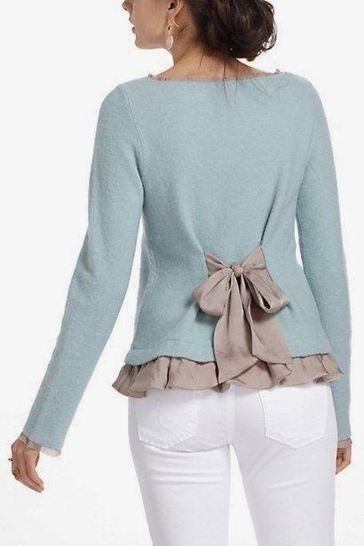 Moda e Dicas de Costura: cute sweater makeover.                              …                                                                                                                                                                                 Más