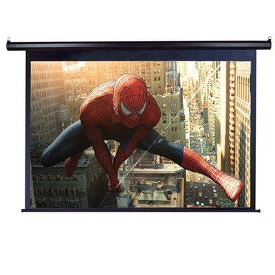 """VMAX135UWH2 VMAX2 Motorized Front Projection Screen - 66 x 117"""" by Elite Screens. $673.79. VMAX135UWH2 Features: -VMAX2 Series Multi-Purpose Electric Screen.-Screen Material: Elite Screens MaxWhite.-Black Aluminum Casing.-Adjustable vertical limit switch to regulate drop / rise settings.-Optional In-Ceiling Trim Kits.-Durable all-metal casing for wall and ceiling installation.-Synchronized motor allows silent operation with extended operational longevity and low power consump..."""