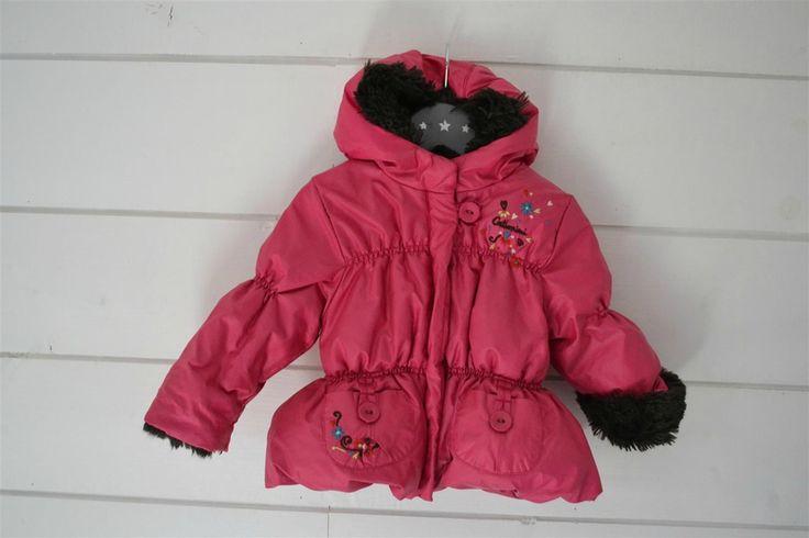Manteau à capuche bien chaud, doublé de fourrure et brodé Catimini - 12M