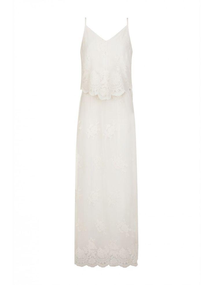 Robe blanche longue naf naf