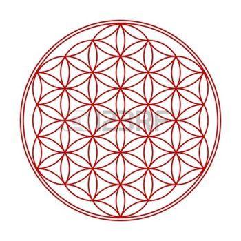 spiritual healing: Flower of Life symbol red Wess 1