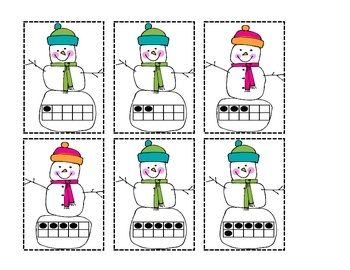 Snowman Sums-a center for math workstation. Free