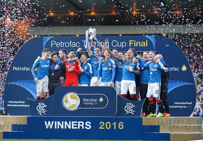 Rangers lift the 2016 Petrofac Scottish Challenge Cup