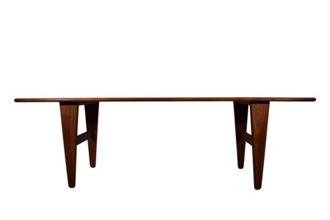 A  coffee table by Illum Wikkelsø, Model J & E