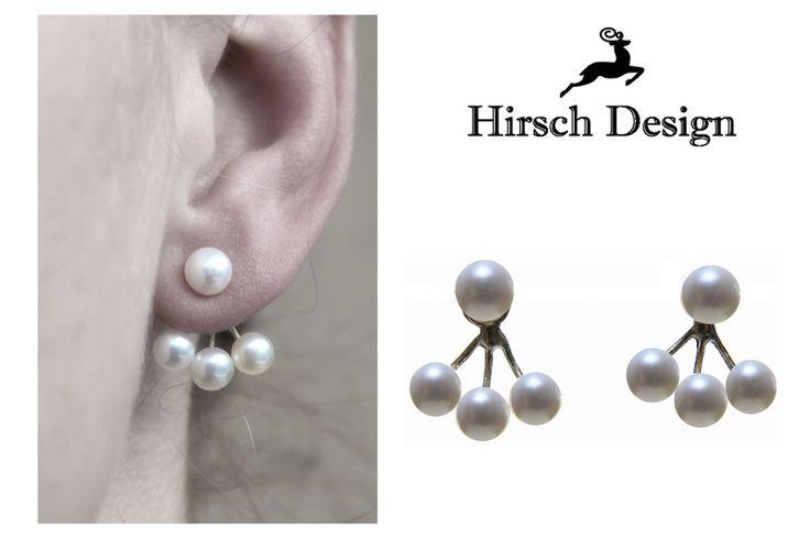 Doppel Ohrringe von Hirsch-Design auf DaWanda.com