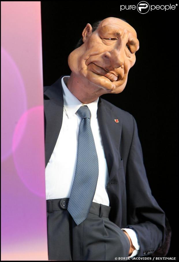 Marionnette de Jacques Chirac aux Guignols de l'info sur Canal+, mai 2007.