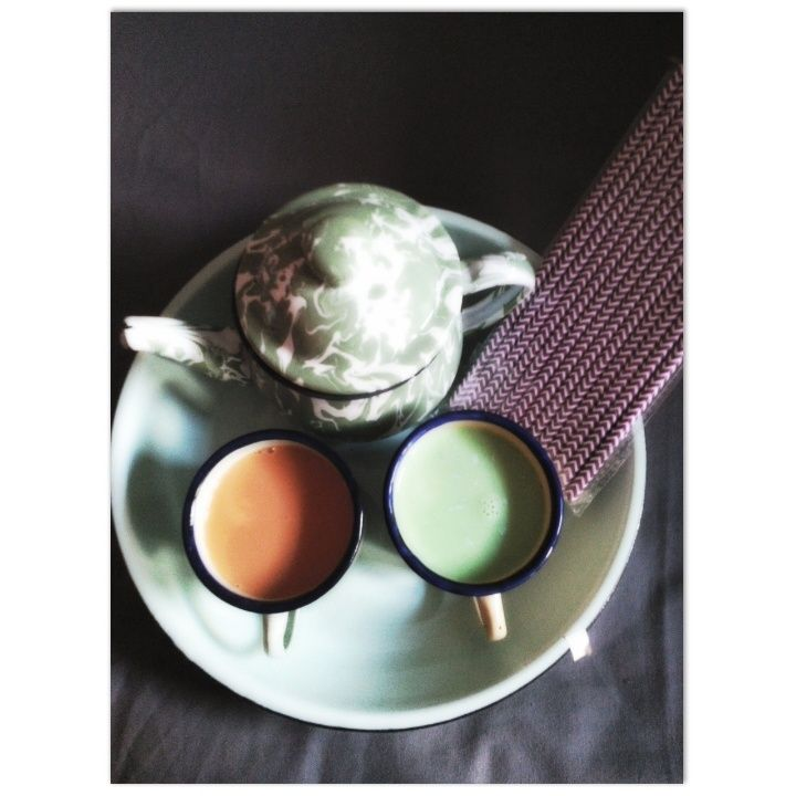 which one? THAI TEA? or GREEN TEA? try try try  follow their Instagram @beyoutea  BOGOR based homemade milk tea.