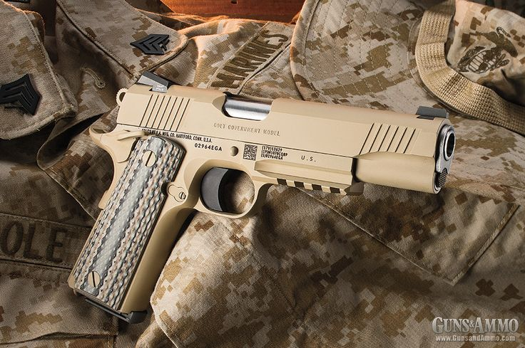 The M45A1 Close Quarters Battle Pistol (CQBP) was decided on July 20, 2012, from three submissions to a 2010 solicitation handed down by Marine Corps Systems Command (MARCORSYSCOM). Colt, Springfield Armory and Karl Lippard Designs each offered Leathernecks a replacement for the age-old rebuilt .45s. A variation of the 1911 Rail Gun won and re-upped Colt's enlistment in the U.S. Marine Corps