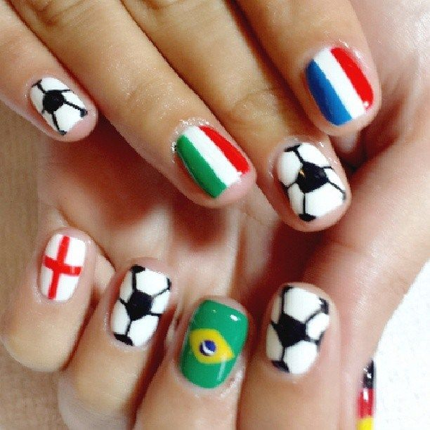 17 Best Images About Sports Nail Art On Pinterest