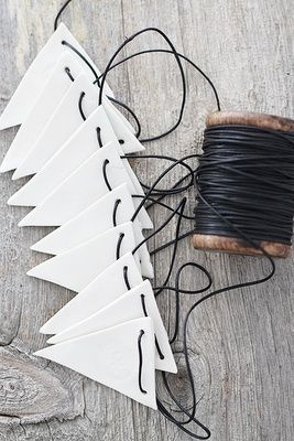 Regards et Maisons: Idées de guirlandes pour Noël - DIY-