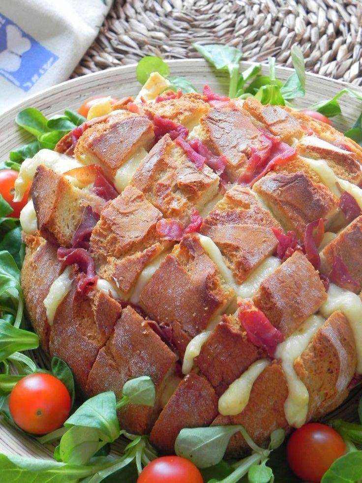 Hogaza de pan de fiesta (pull apart bread)   CocotteMinute