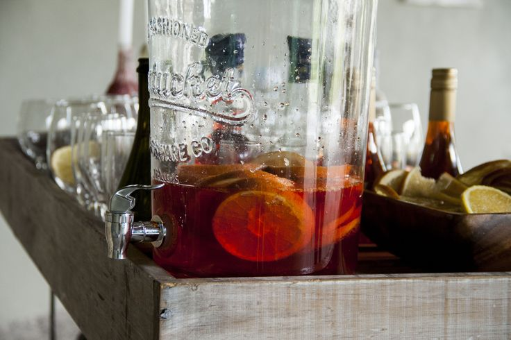Apperol! A classic Italian summer drink. We like a good old spritz on a massive wine glass.