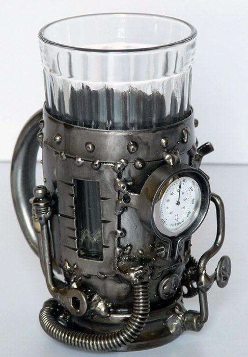 Industrial meets Steampunk:  cool....Russian tea mug