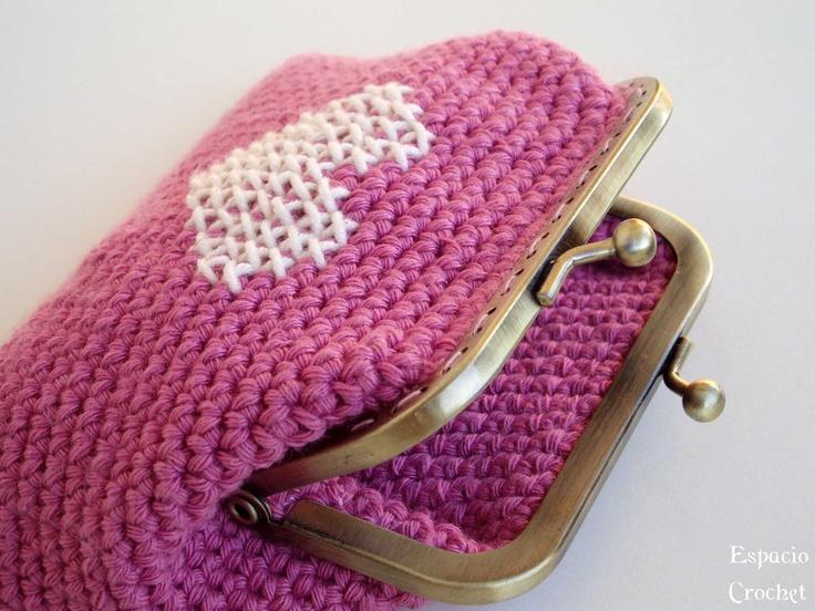 Espacio Crochet: Monedero con boquilla. Tutorial