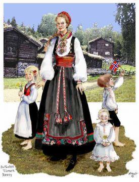 Beltestakk-Telemark Lady & Children - Sharon Aamodt
