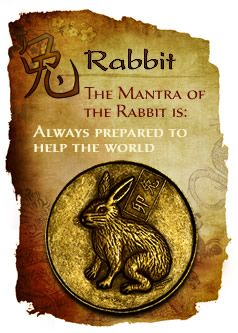 The reserved Rabbit is very intelligent, intuitive and in touch with nature…