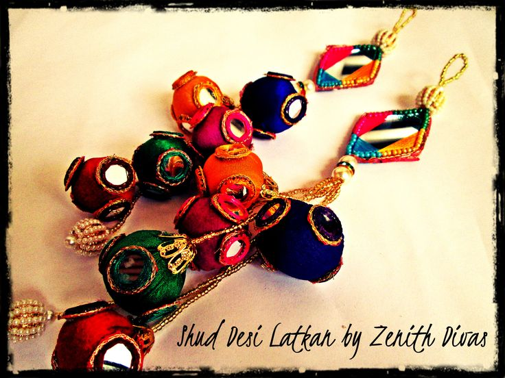 Multicolour Latkan / Tassel to dazzle your lengha.