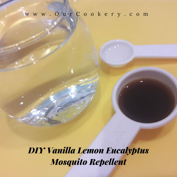 DIY Vanilla Lemon Eucalyptus Mosquito Repellent
