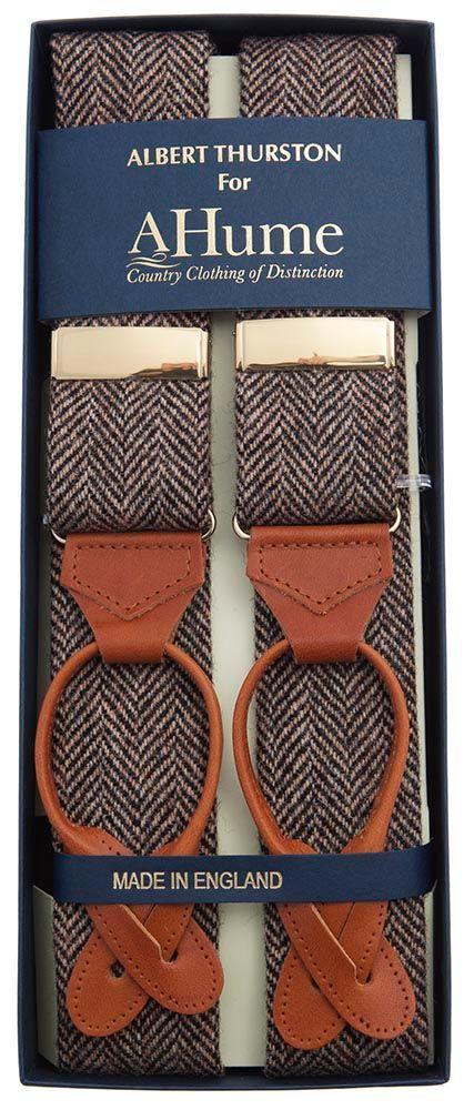 Albert Thurston Dugdale Tweed Braces