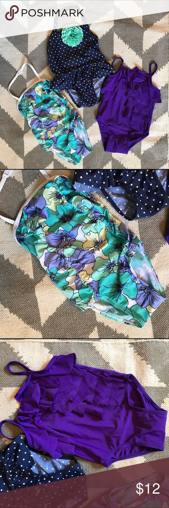 Toddler girl swimsuits Three Old Navy toddler girls swimsuits. All size 2T. Good condition lots of where left. Old Navy Swim One Piece