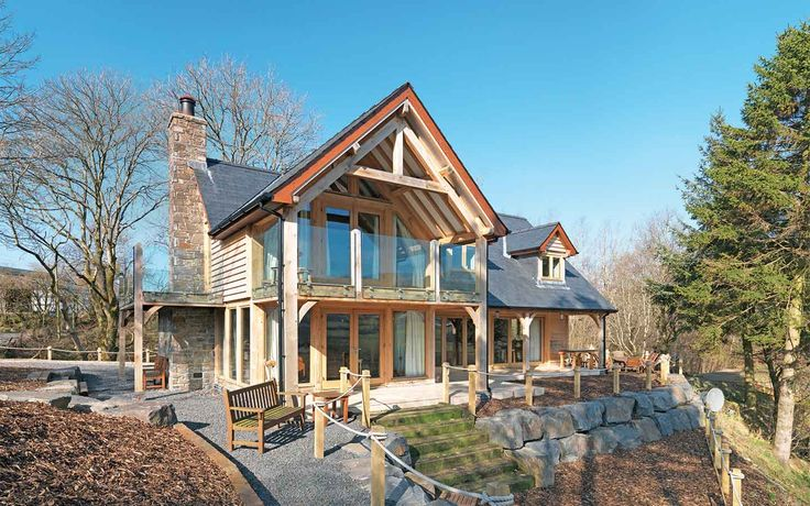 Beautiful contemporary oak frame home