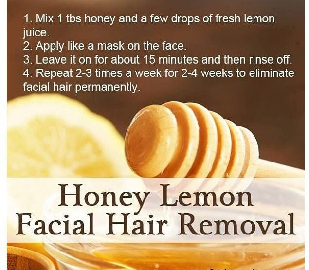 Natural diet for facial hiar removal