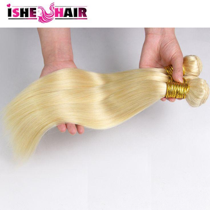 Blonde brazilian hair 3 bundles 100g/pc cheap brazilian virgin hair straight color 613 straight hair weaves wholesale price