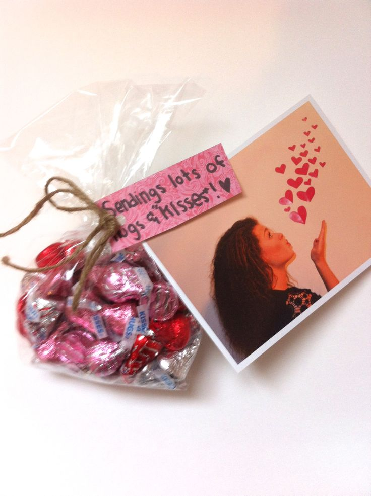 I LOVED this idea! The picture was taken by just taping some hearts to a white wall. So perfect for missionary packages or just for a sweet little creative unique valentine.