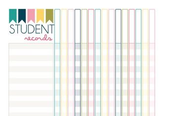 These student record sheets are an excellent addition to your teacher/planning binder. Download once and print as many as you need to keep track of assignments, homework, attendance - whatever you need! With plenty of space for large classes and many assignments.