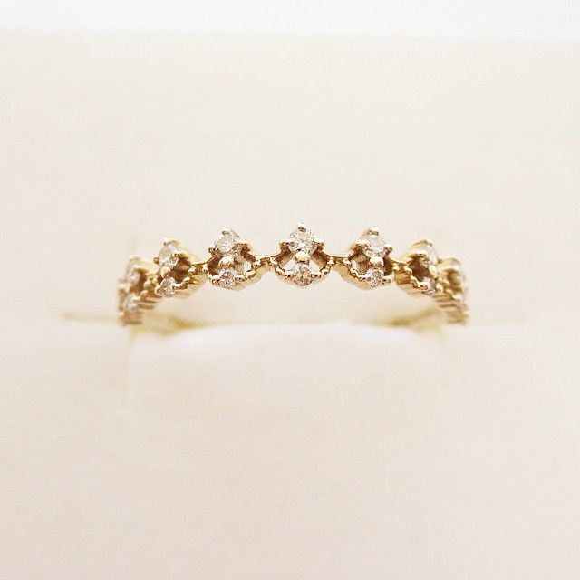 K10YG diamond ring #tocca #japan