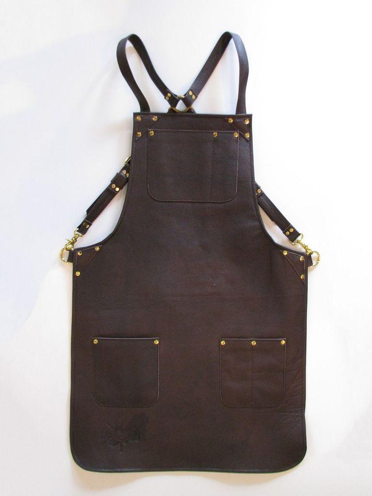 Dark Brown Leather - Mustard Lining