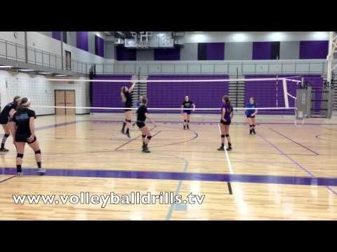 Volleyball Drill: Crosscourt Pepper