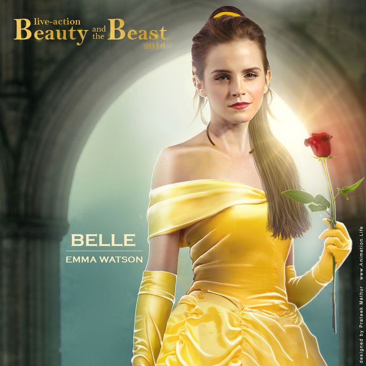 Emma Watson As BELLE Dan Stevens Beast In Disneys Beauty And The 2016 Live Action Film Concept Art Designed By Prateek Mathur