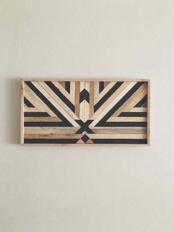 Reclaimed Wood Black X Wall Art Panel di ReachandGrow su Etsy