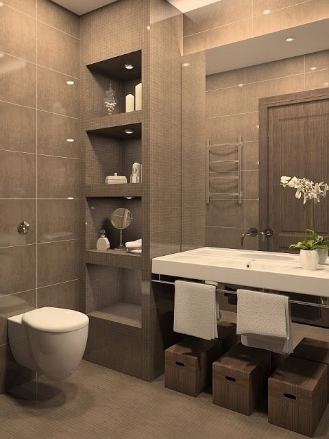 50 Baños Pequeños | 50 Small Bathrooms. Modern Small BathroomsModern  Bathroom DesignSmall ...