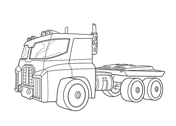 Optimus Prime bot coloring pages
