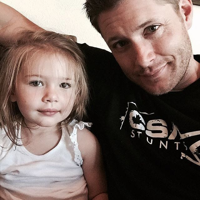 Jensen made his Instagram debut in the cutest way: he shared a sweet moment with Justice.