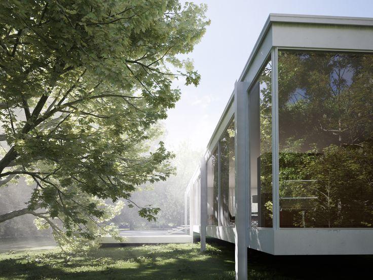 Mies van der rohe farnsworth house in plano illinois