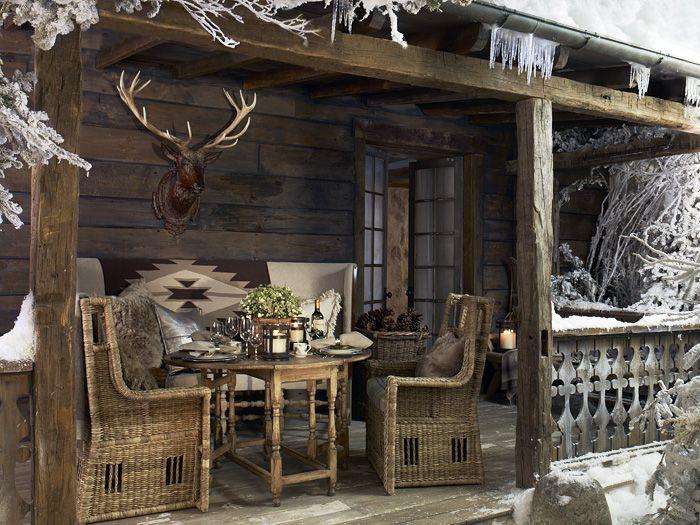 Winter Cabin Outdoor