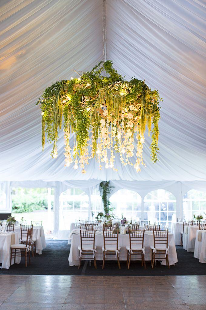 stunning greenery chandelier | Brooke Courtney Photography | Glamour & Grace