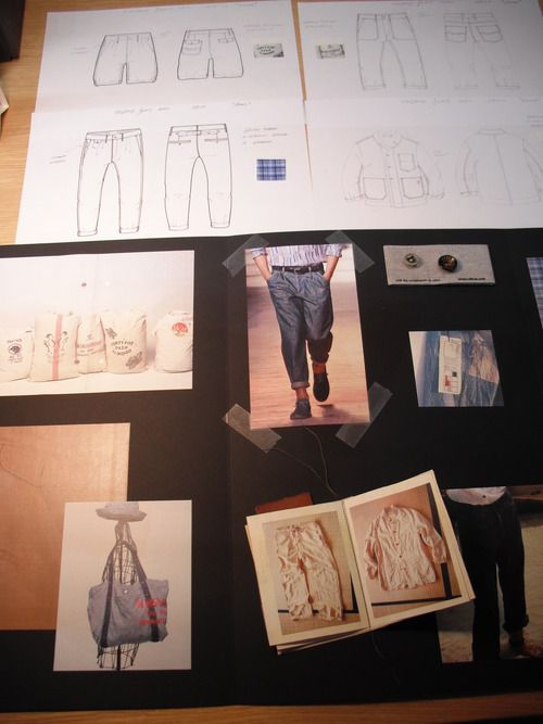 Moodboard and flat sketches created for Pepe Jeans.