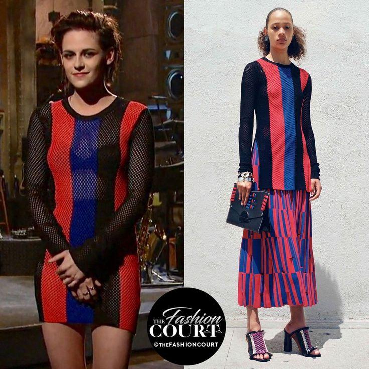 Kristen Stewart wore a #ProenzaSchouler Resort 2017 striped top as a dress on #SNL: https://www.instagram.com/p/BQJJw8SFWRC  #KStewOnSNL #KristenSNL The Fashion Court (@TheFashionCourt)   Twitter
