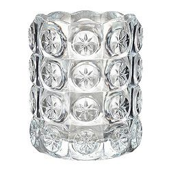 IKEA - FLEST, Tealight holder, The clear glass reflects and enhances the warm glow of the candle-flame.