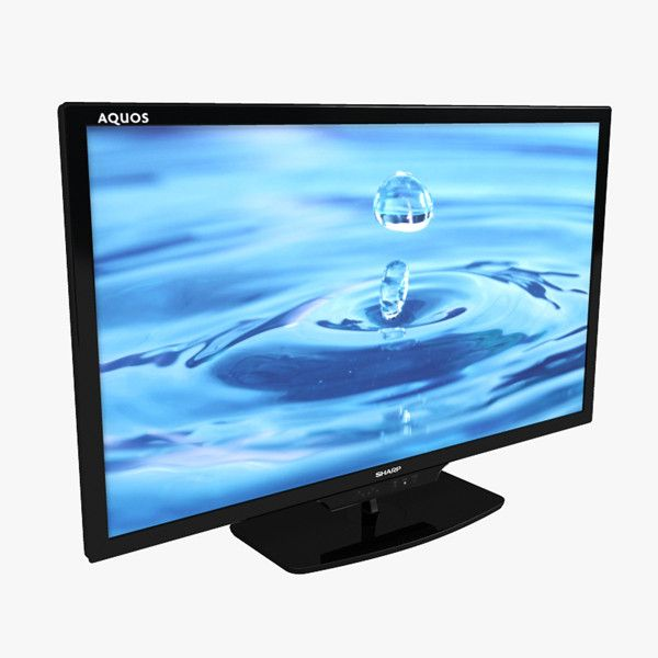 3D Model 46 Inches Television Sharp - 3D Model