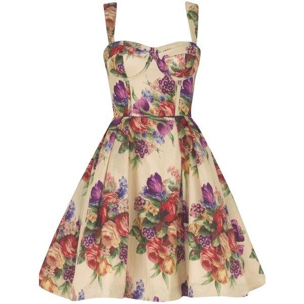 Tea Cup Fifties Dress ❤ liked on Polyvore