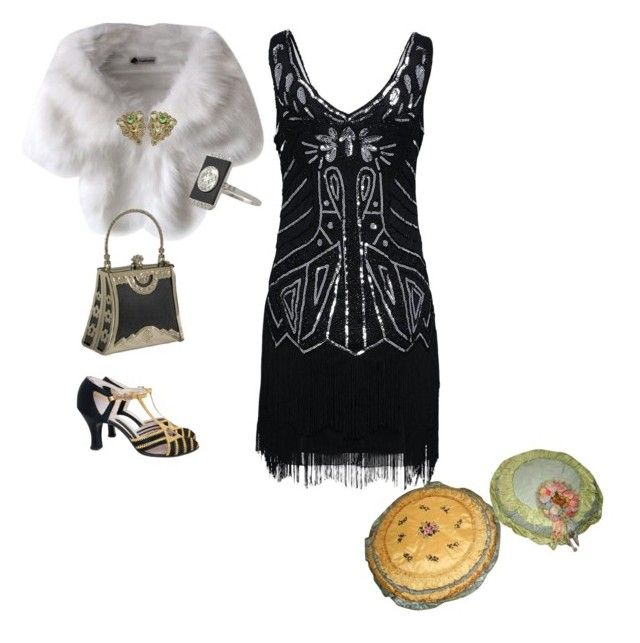 """Party! 1920's outfit"" by cristina-barberis ❤ liked on Polyvore"