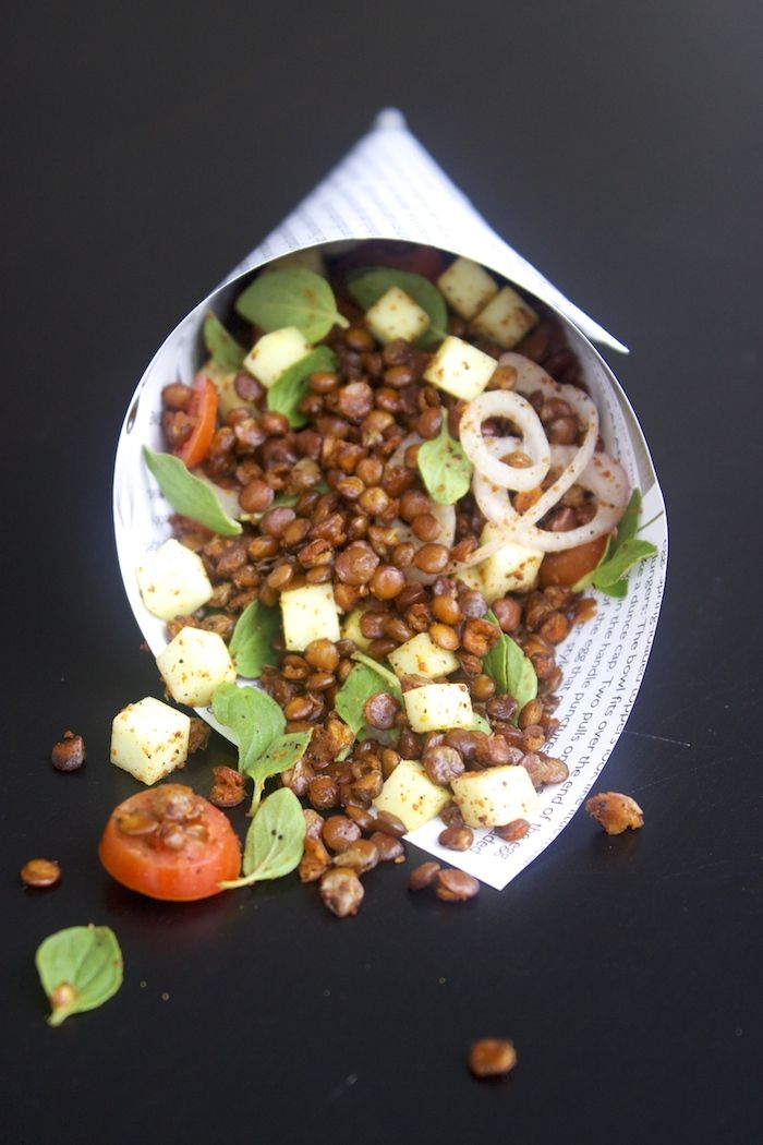 A Healthy Snack – Roasted Lentils with Green Mango Salsa