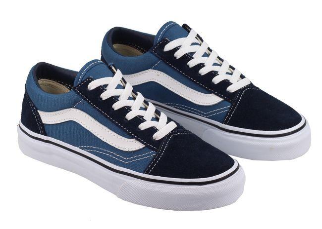 vans old skool negras y azules