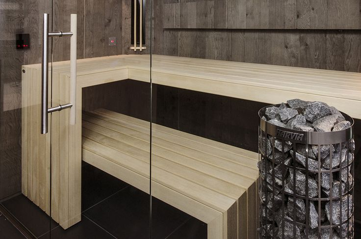 Stonewashed oak VSB Wellness sauna