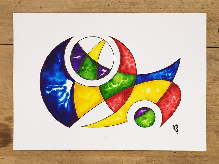 Watercolor design painting I by InkingArt.deviantart.com on @DeviantArt